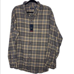 NWT Arrow Flannel Hunting Plaid Button Down Shirt